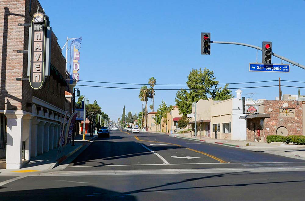 Downtown Banning looking west