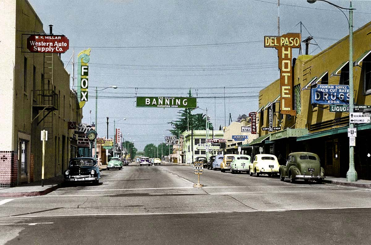 Banning Ca Downtown - 1940s